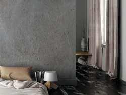 Urban concrete look suits any space