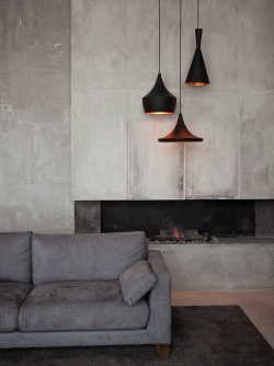 Fashionable concrete look for the sitting room or lounge