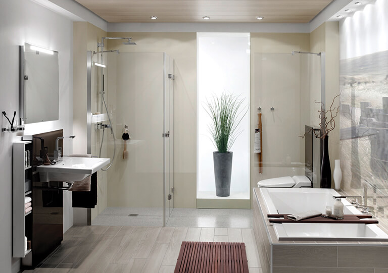Floor-level shower elements​