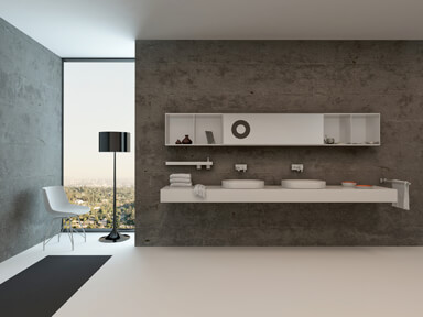 Concrete finish creates that 'urban loft style look'